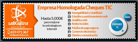 webcafeina es empresa homologado por avante para los chequestic extrematic