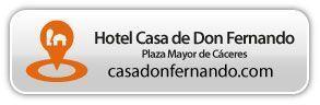 El taller SEO será en el Hotel Casa de Don Fernando, plaza mayor de Cáceres